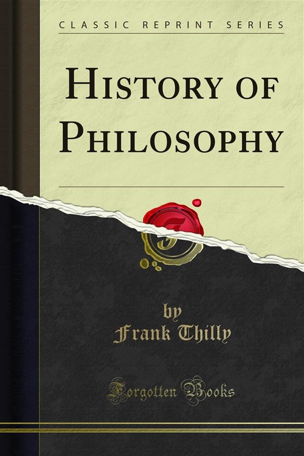 A History Of Philosophy Frank Thilly Pdf