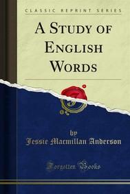 A Study of English Words - copertina