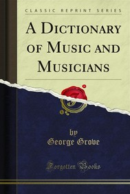A Dictionary of Music and Musicians - copertina