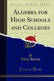 Algebra for High Schools and Colleges - copertina