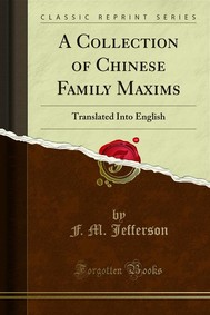 A Collection of Chinese Family Maxims - copertina