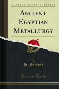 Ancient Egyptian Metallurgy - Librerie.coop