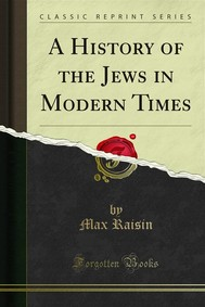 A History of the Jews in Modern Times - copertina