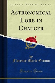 Astronomical Lore in Chaucer - copertina