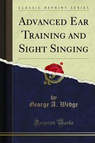 Advanced Ear Training and Sight Singing - copertina