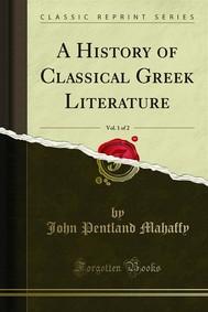 A History of Classical Greek Literature - copertina