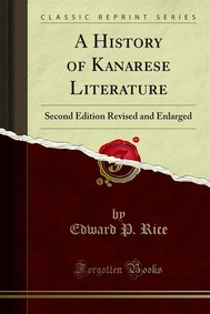 A History of Kanarese Literature - copertina