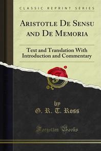 Aristotle De Sensu and De Memoria - Librerie.coop