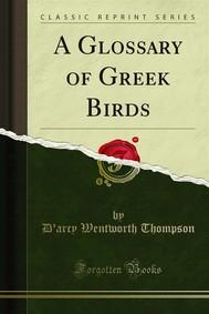 A Glossary of Greek Birds - copertina