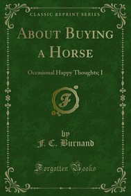 About Buying a Horse - copertina