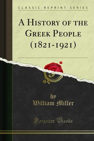 A History of the Greek People (1821-1921) - copertina
