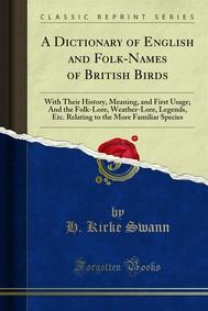 A Dictionary of English and Folk-Names of British Birds - copertina