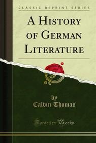 A History of German Literature - copertina