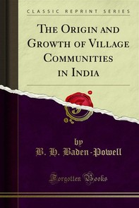 The Origin and Growth of Village Communities in India - Librerie.coop