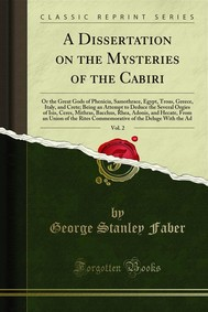 A Dissertation on the Mysteries of the Cabiri - copertina