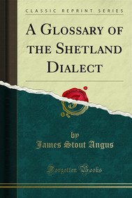 A Glossary of the Shetland Dialect - copertina