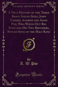 A True History of the Three Brave Indian Spies, John Cherry, Andrew and Adam Poe, Who Wiped Out Big Foot and His Two Brothers, Styled Sons of the Half King - copertina