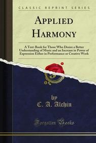 Applied Harmony - copertina