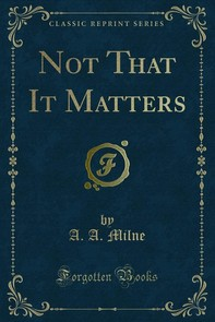 Not That It Matters - Librerie.coop