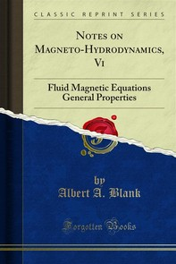 Notes on Magneto-Hydrodynamics, Vi - Librerie.coop