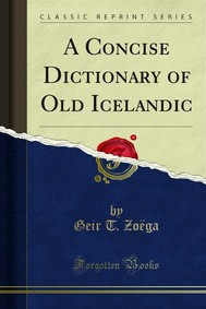 A Concise Dictionary of Old Icelandic - copertina