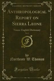 Anthropological Report on Sierra Leone - copertina