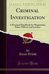 Criminal Investigation - Librerie.coop