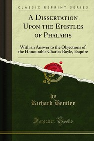 A Dissertation Upon the Epistles of Phalaris - copertina