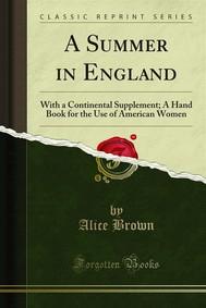 A Summer in England - copertina