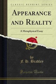 Appearance and Reality - copertina