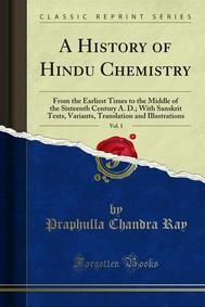 A History of Hindu Chemistry - copertina