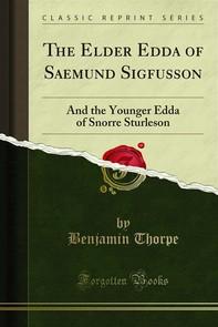 The Elder Edda of Saemund Sigfusson - Librerie.coop