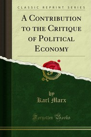 A Contribution to the Critique of Political Economy - copertina