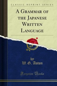 A Grammar of the Japanese Written Language - copertina