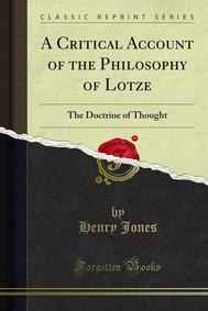 A Critical Account of the Philosophy of Lotze - copertina