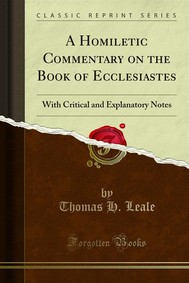 A Homiletic Commentary on the Book of Ecclesiastes - copertina