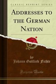 Addresses to the German Nation - copertina