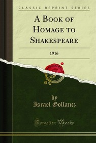 A Book of Homage to Shakespeare - copertina