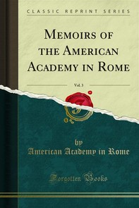 Memoirs of the American Academy in Rome - Librerie.coop