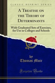 A Treatise on the Theory of Determinants - copertina