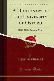 A Dictionary of the University of Oxford - copertina