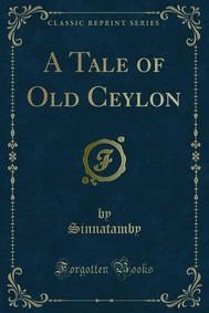 A Tale of Old Ceylon - copertina