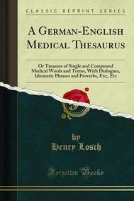 A German-English Medical Thesaurus - copertina