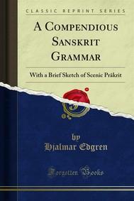 A Compendious Sanskrit Grammar - copertina