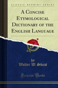 A Concise Etymological Dictionary of the English Language - copertina