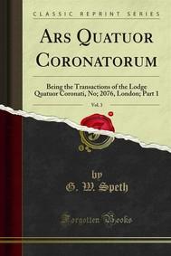 Ars Quatuor Coronatorum - copertina
