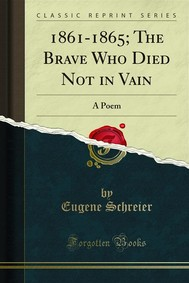 1861-1865; The Brave Who Died Not in Vain - copertina
