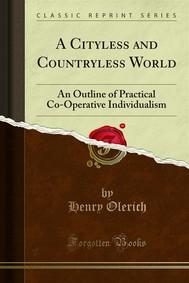 A Cityless and Countryless World - copertina