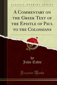A Commentary on the Greek Text of the Epistle of Paul to the Colossians - copertina
