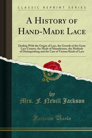 A History of Hand-Made Lace - copertina